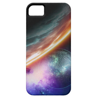 Planet and its moon. Computer artwork of an iPhone 5 Case