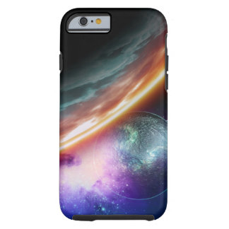 Planet and its moon. Computer artwork of an Tough iPhone 6 Case