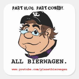 PLANET BIERWAGEN caricature promo sticker