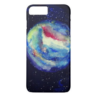 Planet Case, Watercolor Cosmos Art iPhone 8 Plus/7 Plus Case