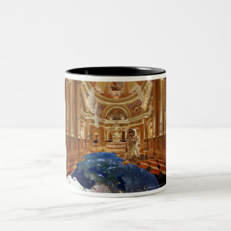 Planet cathedral, planet Cathedral Two-Tone Mug