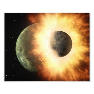 Planet Collision Space Art Photographic Print
