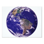 Planet Earth 11 Cm X 14 Cm Invitation Card