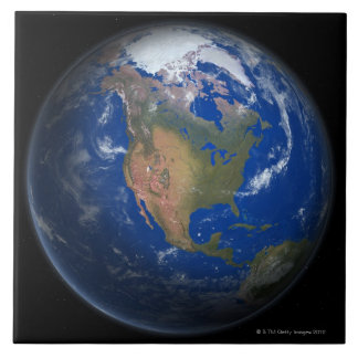 Planet Earth 3 Large Square Tile
