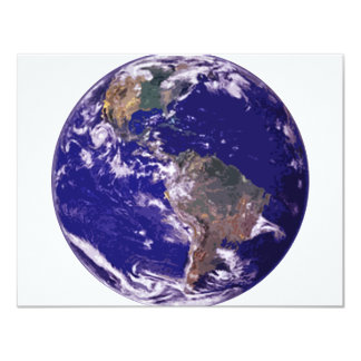 "Planet Earth 4.25"" X 5.5"" Invitation Card"