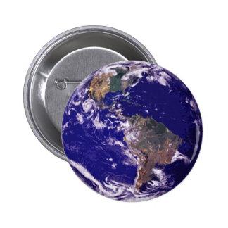 Planet Earth 6 Cm Round Badge