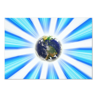 "Planet Earth Abstract Vortex 3.5"" X 5"" Invitation Card"