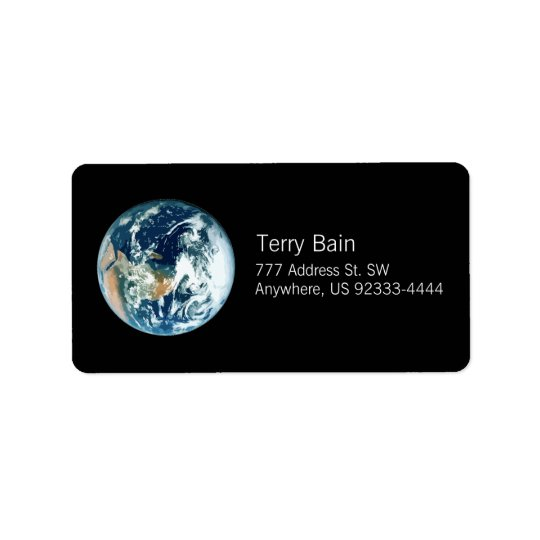 Planet Earth Address Label