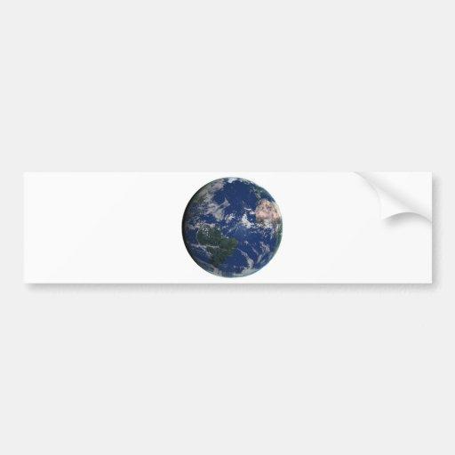 PLANET EARTH AFRICA CONTINENTS BLUE OCEAN GREEN BUMPER STICKER
