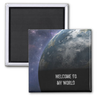 Planet Earth and Outer Space Fantasy Art Magnets