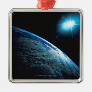 Planet Earth and Star from Space Christmas Ornament