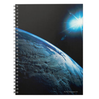 Planet Earth and Star from Space Notebook