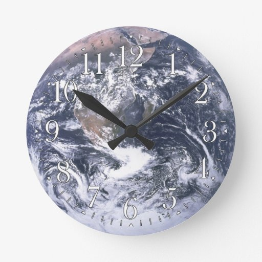 Planet Earth Astronomy Wall Clock