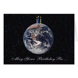 Planet Earth Birthday Card