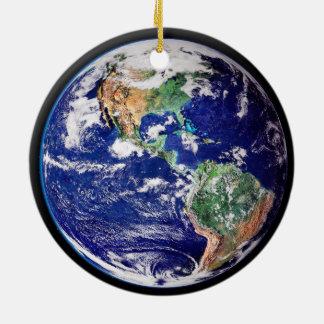 Planet Earth Christmas Christmas Ornament