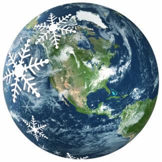 Planet Earth Christmas ornament Photo Sculpture Decoration