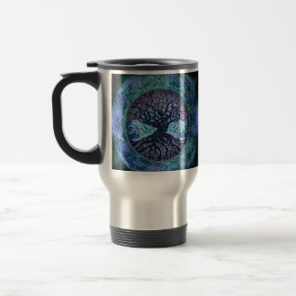 Planet Earth Circle of Life, Tree of Life Travel Mug