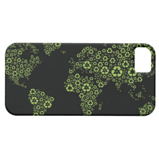 Planet earth composed of recycling symbols case for the iPhone 5