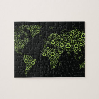 Planet earth composed of recycling symbols jigsaw puzzle
