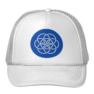 Planet earth flag cap