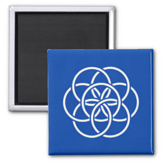 Planet earth flag square magnet