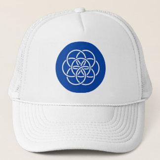 Planet earth flag trucker hat