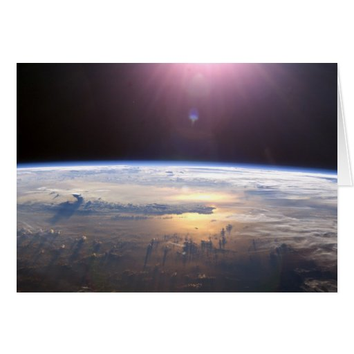 Planet Earth From Space Greeting Cards