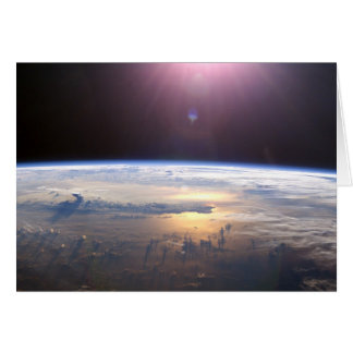 Planet Earth From Space Greeting Card