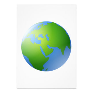 Planet Earth Globe Personalized Announcement