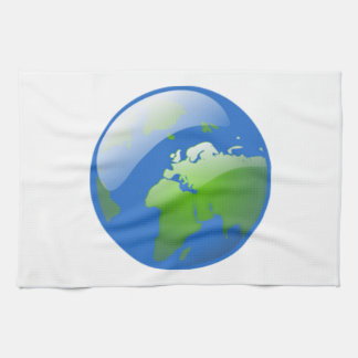 Planet Earth Globe Tea Towel