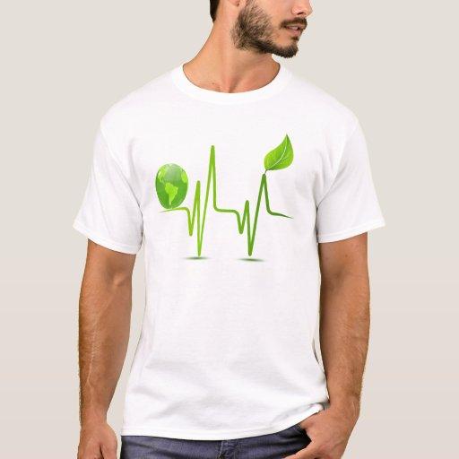PLANET EARTH HEART MONITOR T-Shirt