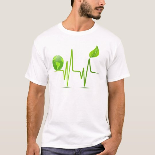PLANET EARTH HEART MONITOR T-Shirt