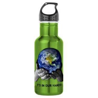 PLANET EARTH IN HANDS 532 ML WATER BOTTLE