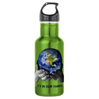 PLANET EARTH IN HANDS 532 ML WATER BOTTLE