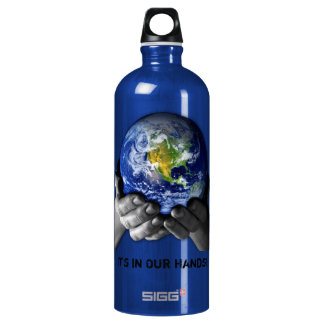 PLANET EARTH IN HANDS SIGG TRAVELLER 1.0L WATER BOTTLE