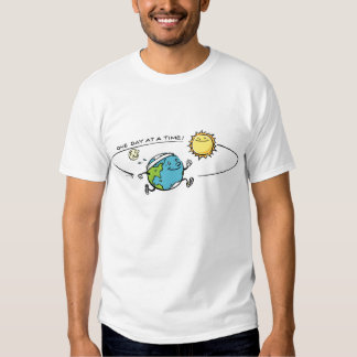 Planet Earth jogging around the sun Tee Shirts