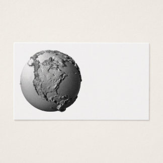 Planet Earth On White Background - North America Business Card