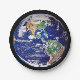 Planet Earth Paper Plate