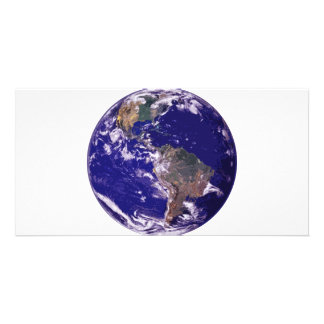 Planet Earth Photo Greeting Card