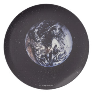 Planet earth plate