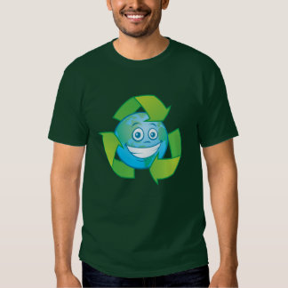 Planet Earth Recycle Cartoon Character Shirts
