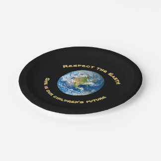 Planet Earth Respect  Paper Plates