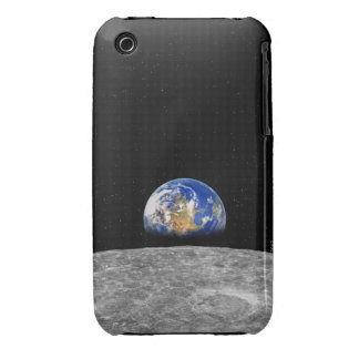 Planet earth rising over Moon iPhone 3 Case-Mate Case