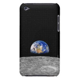 Planet earth rising over Moon iPod Touch Covers