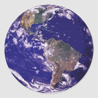 Planet Earth Round Sticker