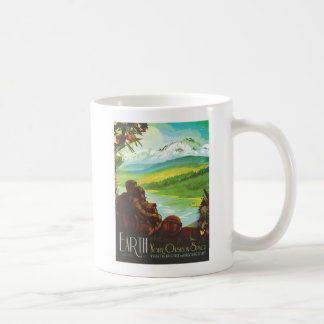 Planet Earth - Sci-Fi Tourism Illustration Coffee Mug