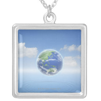 Planet Earth Silver Plated Necklace