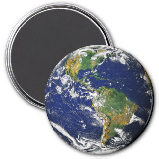 PLANET EARTH (solar system) ~ 7.5 Cm Round Magnet