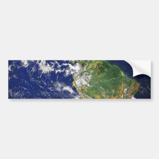 PLANET EARTH SPACE PHOTOGRAPHY BLUES GREENS BLACK BUMPER STICKER