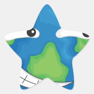 planet earth star sticker